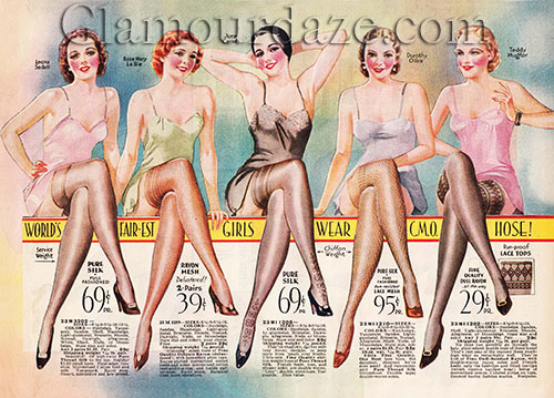 1930's lingerie and stockings