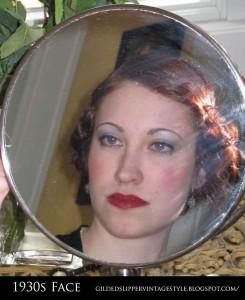 Glamourdaze - Gilded Slipper - 1930s face