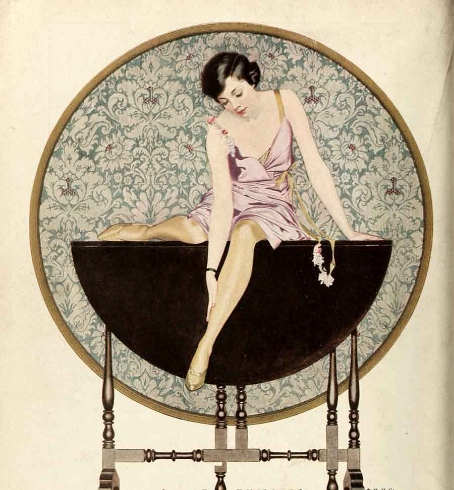 1920s Holeproof hosiery advert - Coles Phillips