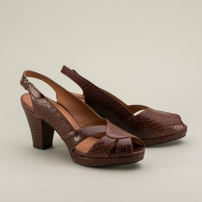 Dolores 1940s Slingback Shoes by Royal Vintage