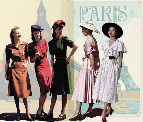 Concise history of 1940's fashion---1940-to-1949