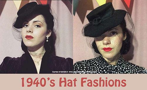 1940's hat fashions