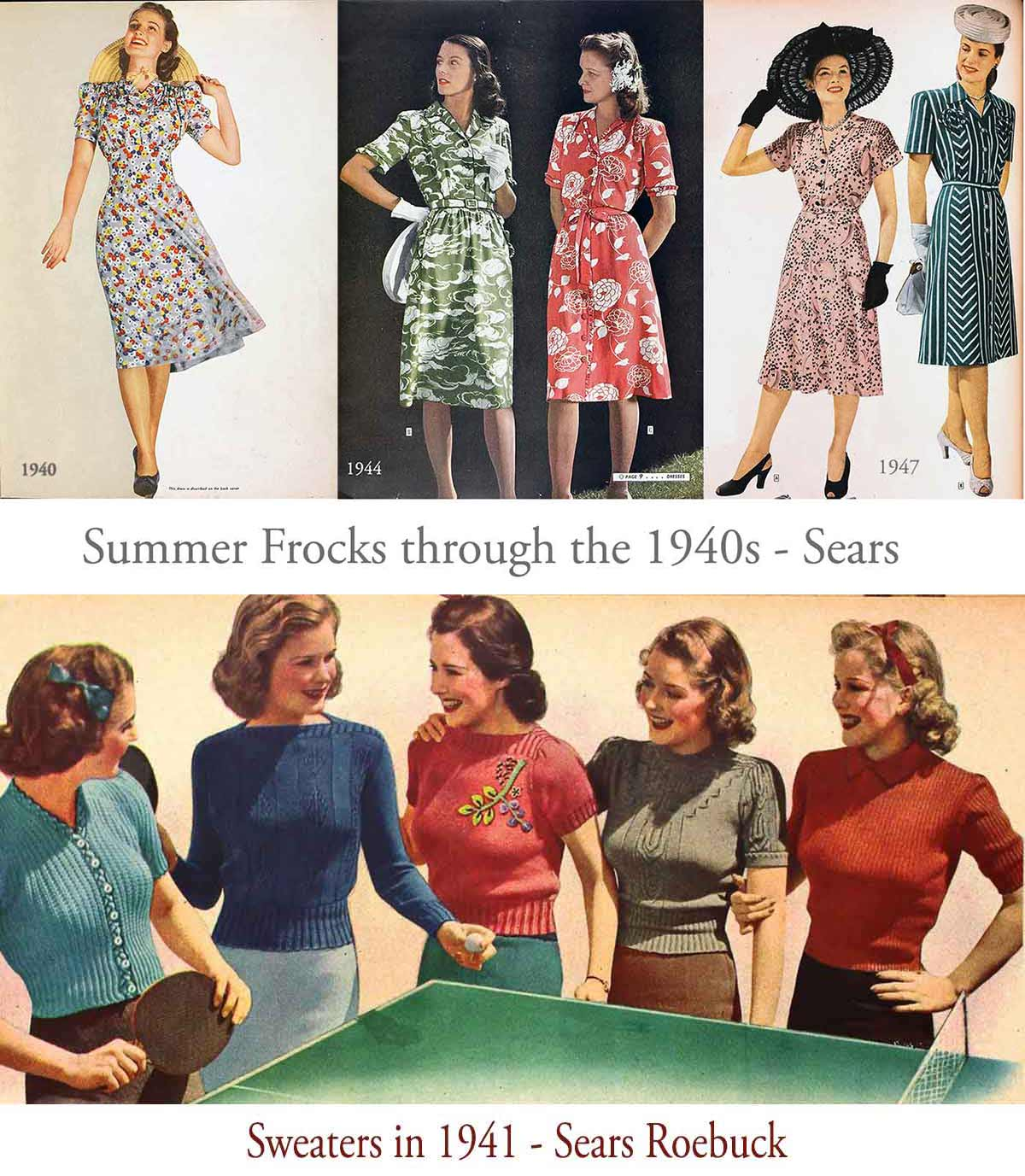 French House 1940s Fashion Wardrobe Plan Dress Accurately