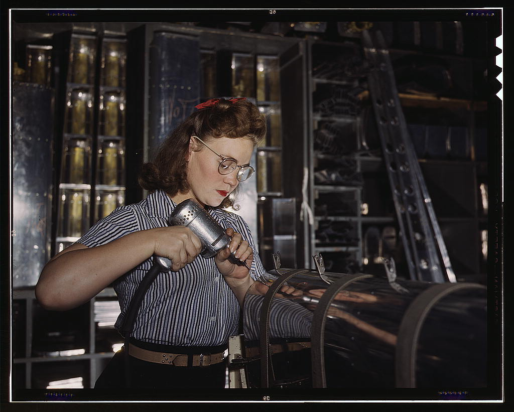 World War Women Rosie The Riveter