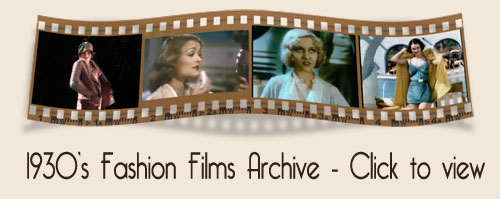 1930s fashion film archive