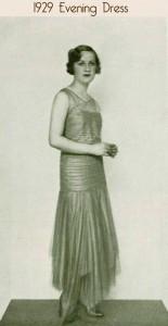1929 evening frock