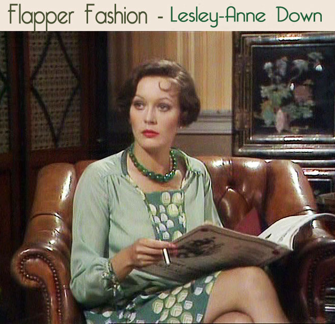 1920's flapper dress - -Lesley-Anne-Down