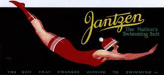 1920s swimwear fashion - jantzen swimsuit logo 1920s
