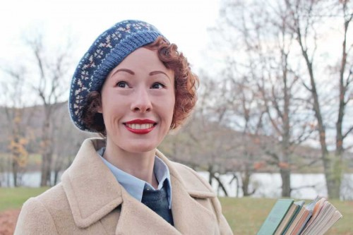 1940s style beret by Rochelle New of Lucky Lucille 76936186395