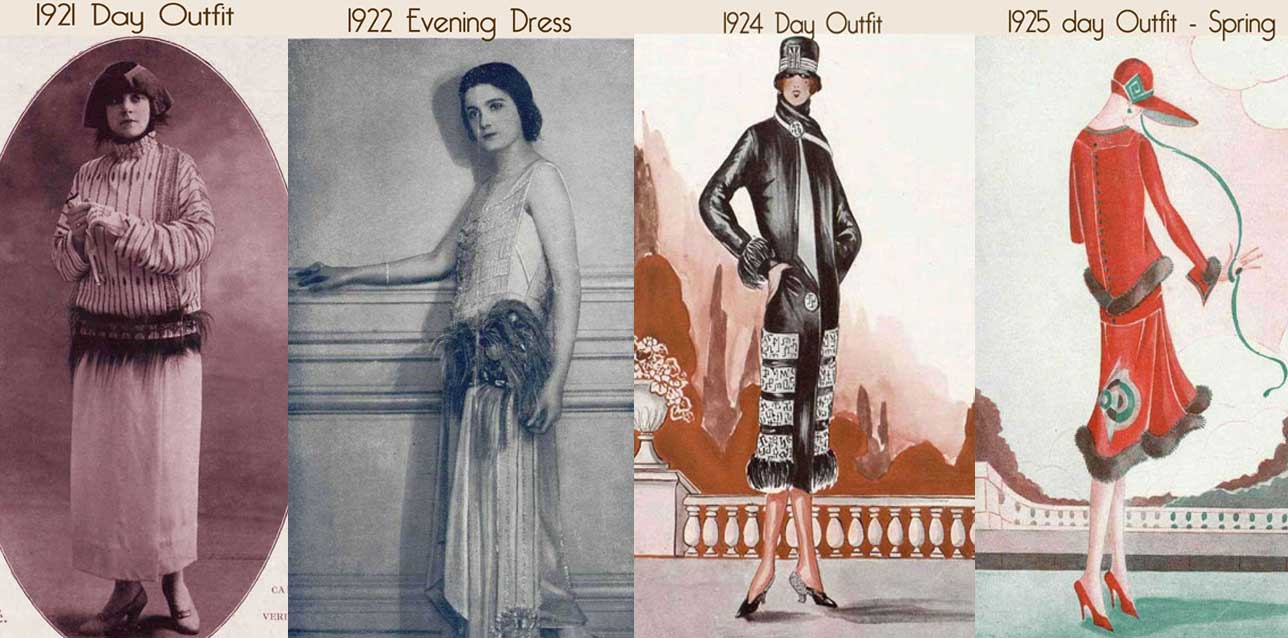 1920s Woman Drawings 1920s-dress-fashion-timeline
