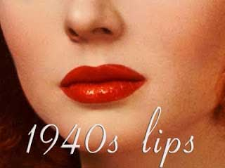 1940s style makeup - red lip-color