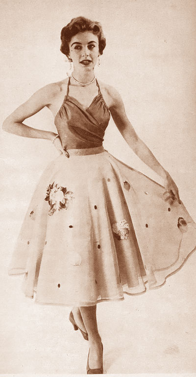 1950s Circle Skirt Smart Sewing Magazine 50s Poodle Makeup Mugeek Vidalondon