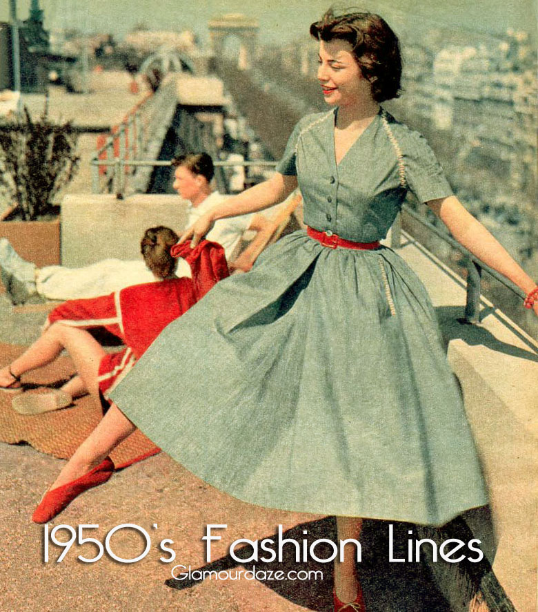 1950s fashion women dresses