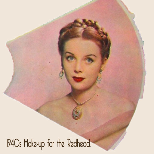 1940s Makeup Color Chart Redhead2