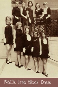 little black dress parade in the late 1960s