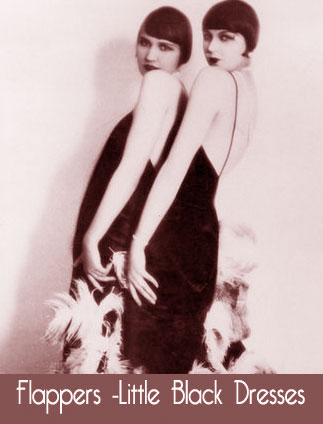 Two flappers - Little Black Dress