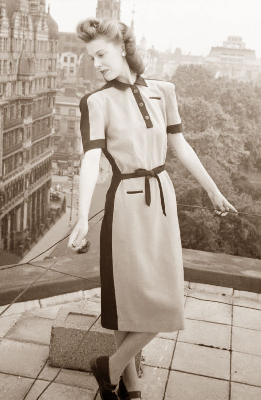 1940s Style Dresses Fashion Clothing: History Of Womens Fashion -1900 To 1969