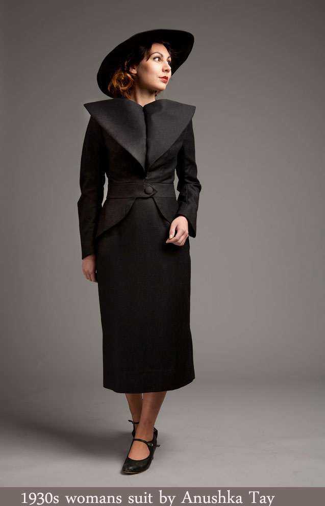 1930s fashion - Recreating a Joan Crawford 1935 dress suit
