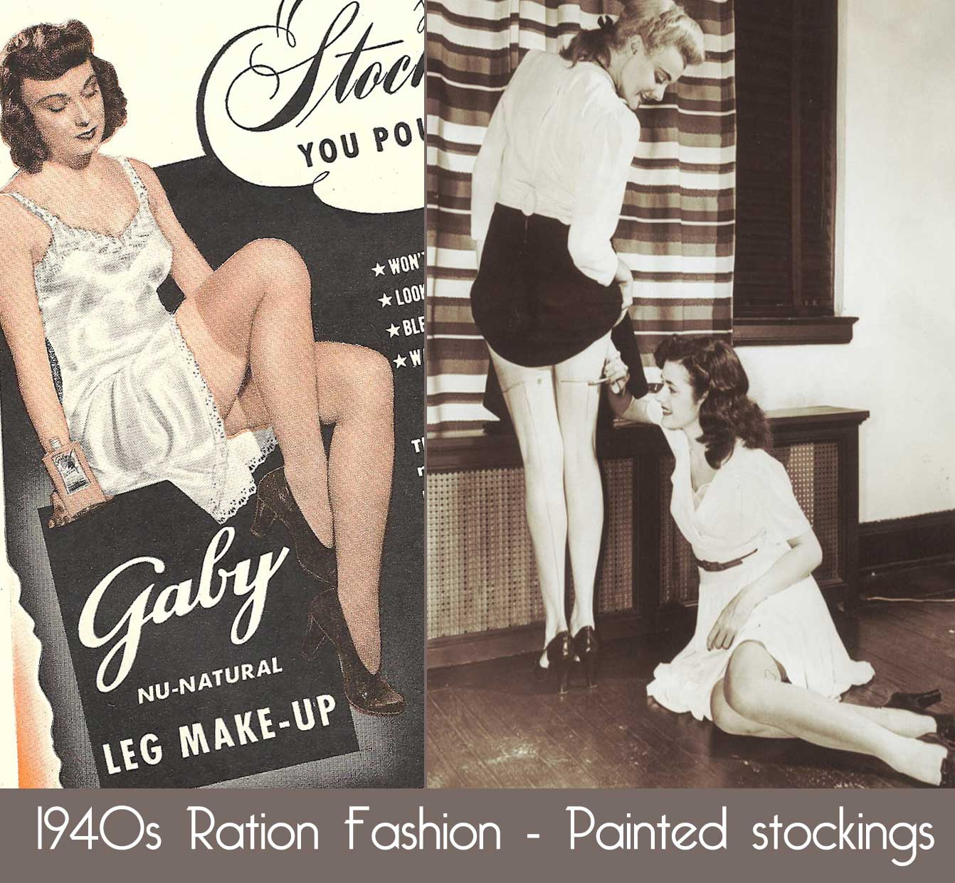 1940's Designer Clothing For Women s Ration Fashion Paint