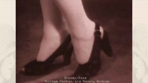 1940s fashion -womens shoes---archive-film