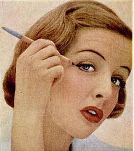 Vintage 1950u0026#39;s Eye Makeup Glamour Tips : Glamourdaze