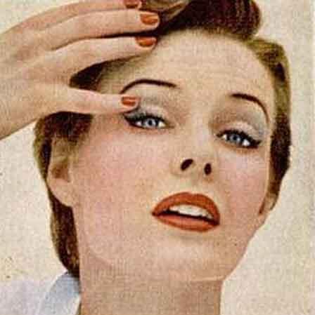 Vintage 1950 39 s eye makeup glamour tips glamourdaze for 1950 s beauty salon