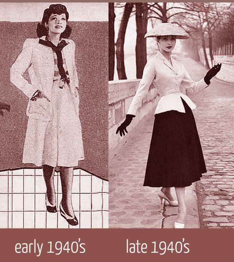 Post War Influence On Women S Fashion In The 1940s
