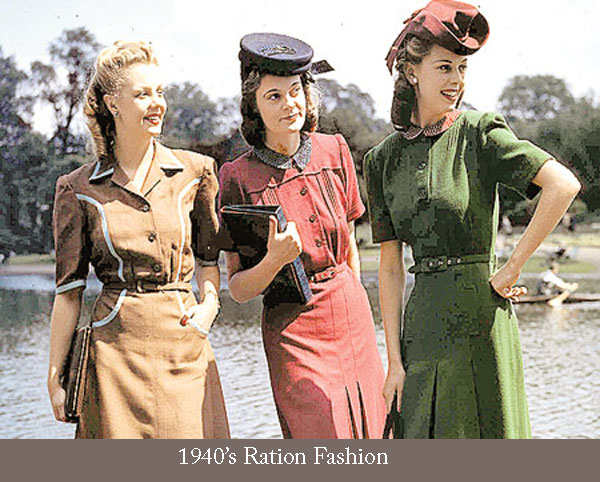 78e022c59b 1940s Silhouette and Style Changes | Glamour Daze