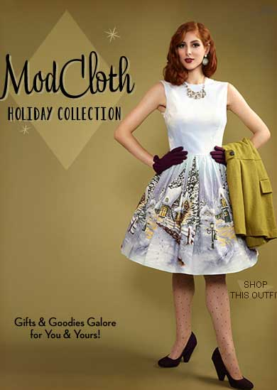 This Christmas Modcloth Really Are Bursting With Vintage Loveliness In Dress