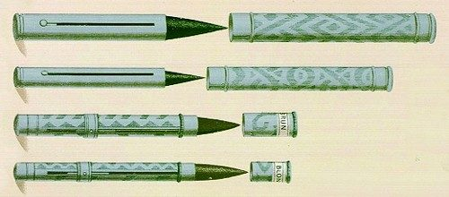Early lipstick tubes 1898 1898-bourjois-cases