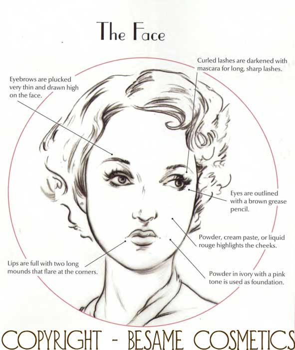 Six Makeup Secrets For The Perfect 1930 S Face Glamour Daze