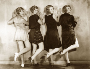 A-line-of-1920s-chorus-girls-from-the-show,-'The-Girl-From-Cooks'.-1927