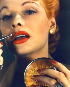 History-of-makeup---Lipstick---1940s---Lucille-Ball