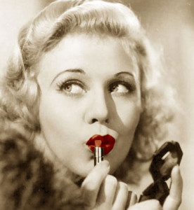 History-of-makeup---Lipstick-Hollywood-Influence---Ginger-Rogers