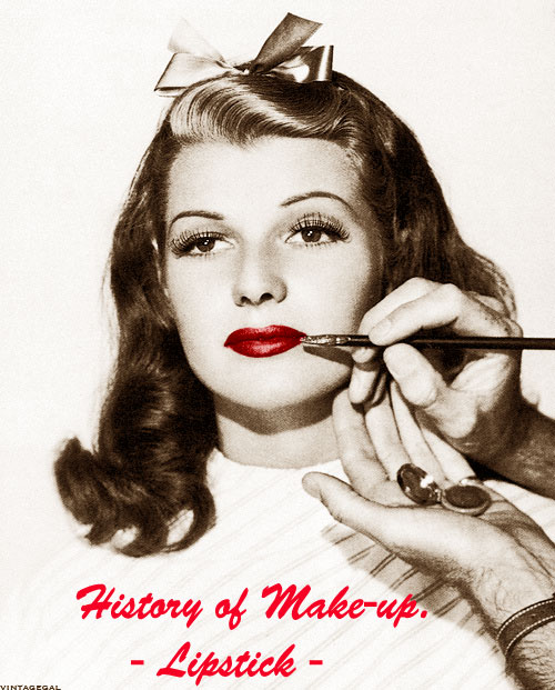 history of makeup lipstick
