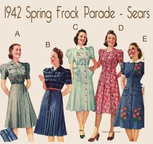 1940s-spring-frocks-parade