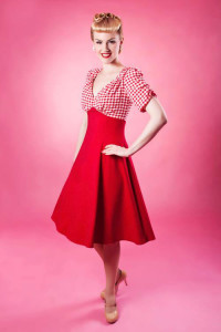 40s-Tea-Dress---Red-Gingham