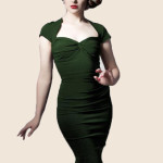 Foxy-Lady-50s-Wiggle-Dress---vintage-green