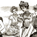 Gibson-girls--at-the-beach