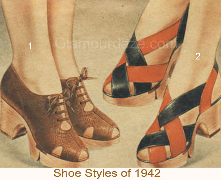 Winter Shoe Styles Of 1942 Glamour Daze