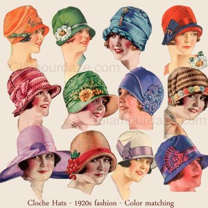 1920s-Fashion---Cloche-Hats