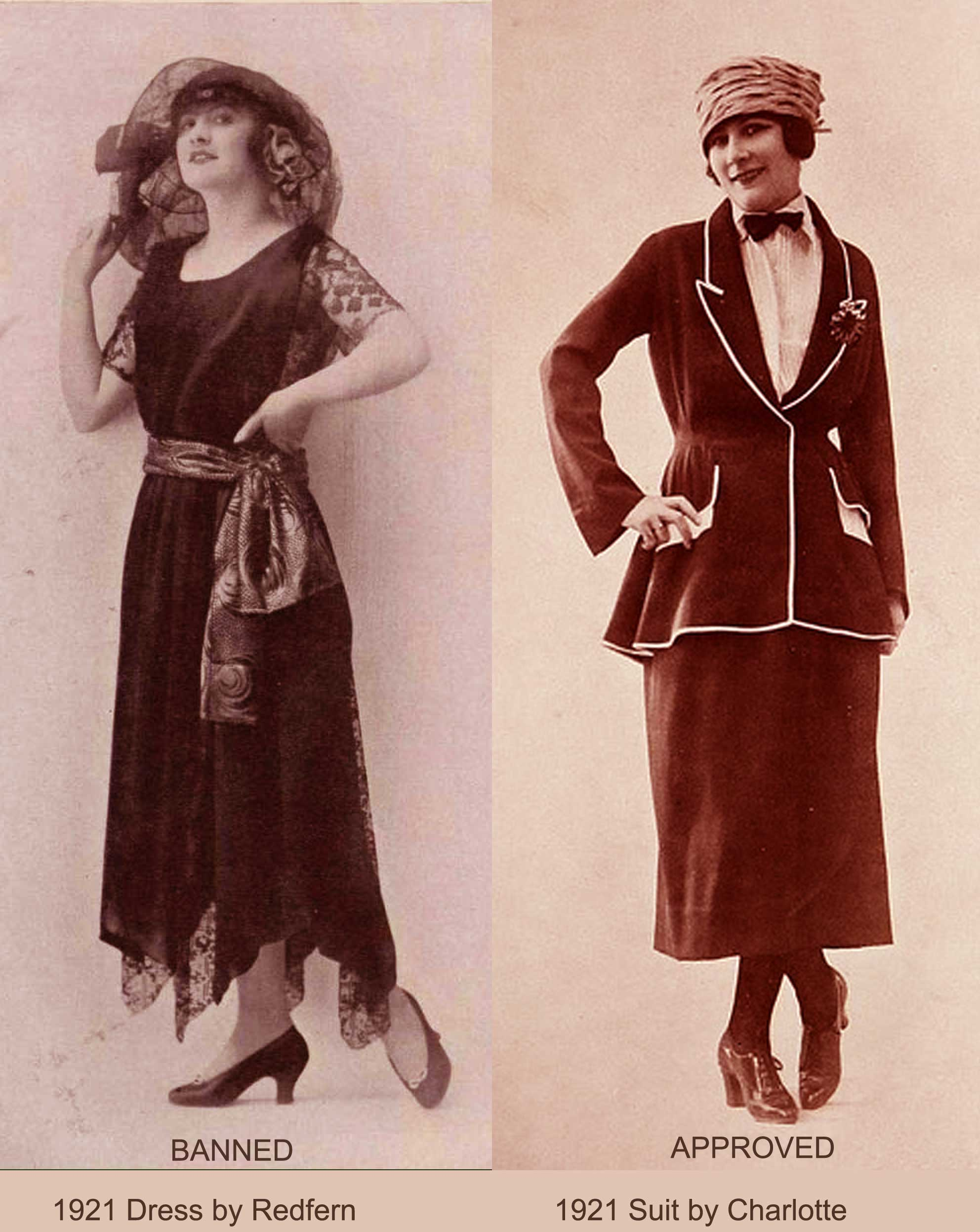 1920s Fashion - US Banks ban Flappers - 1922 report ...