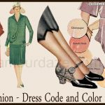 1920's Fashion – Illustrated 1928 dress guide for an average girl.