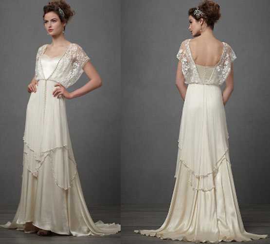 1920s style wedding bridal gowns1