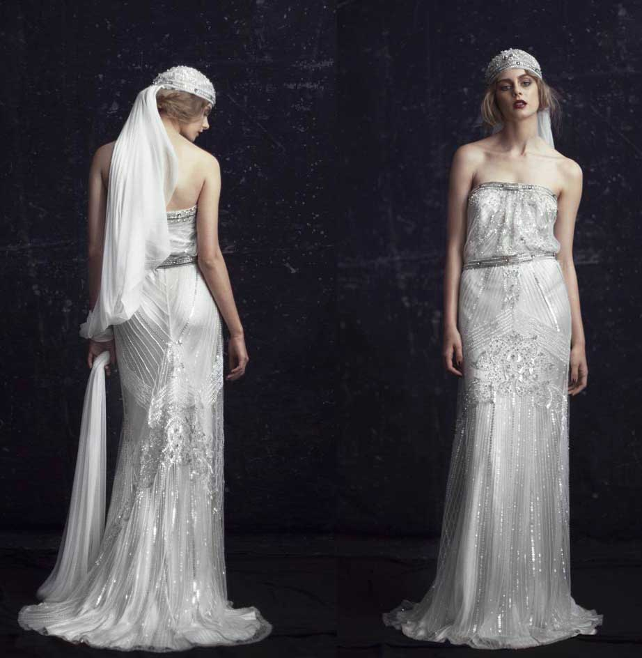 Be a 1920s gatsby bride glamourdaze 1920s wedding dress johanna johnson the london junglespirit Images