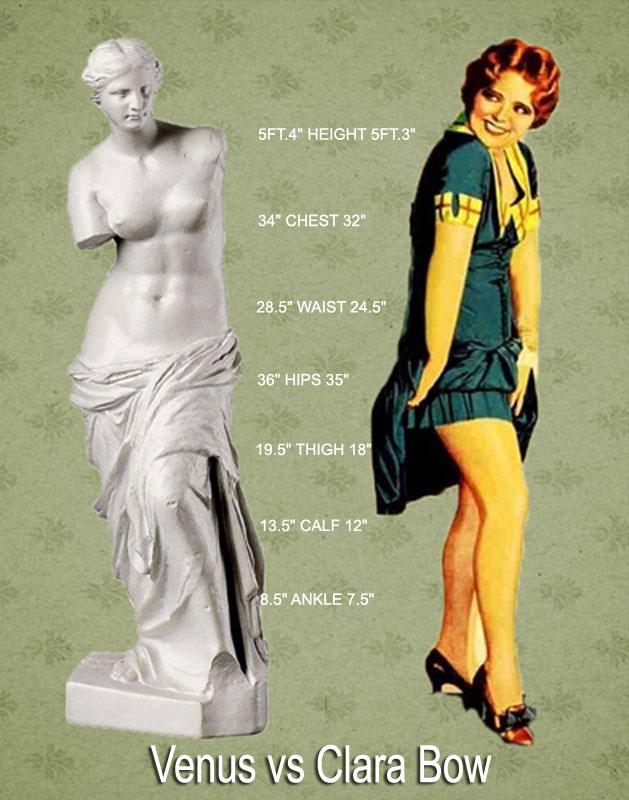 1920s Silhouette Clara Bow Vs Venus Glamour Daze