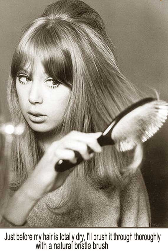 1960's Hairstyles for Long Hair - Pattie Boyd  | Glamour Daze