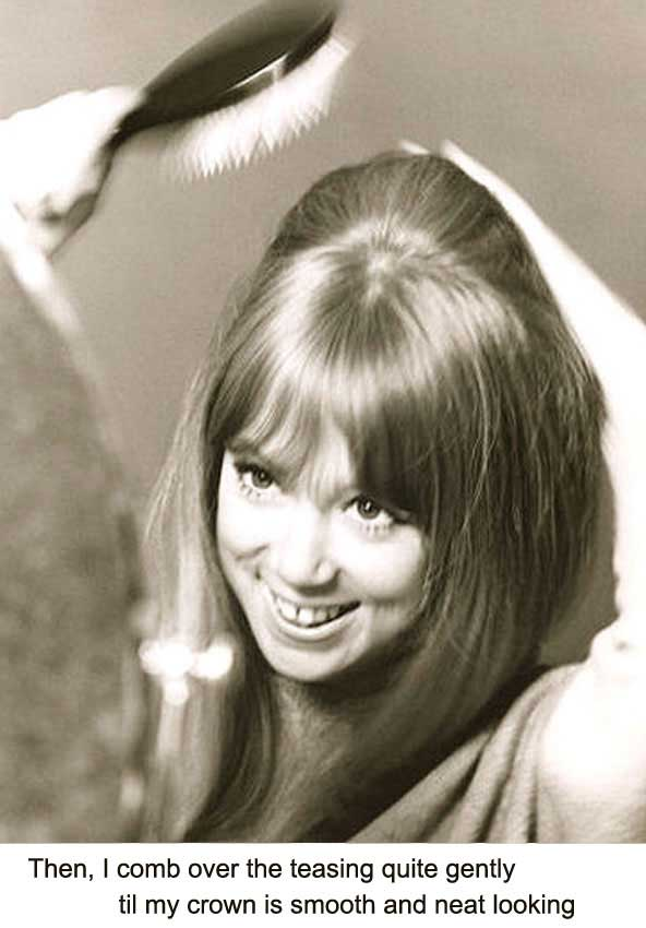 Pattie Boyd - 1960's hairstyle tips for long hair