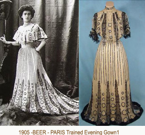 1905 Beer - Trained-Evening-Gown