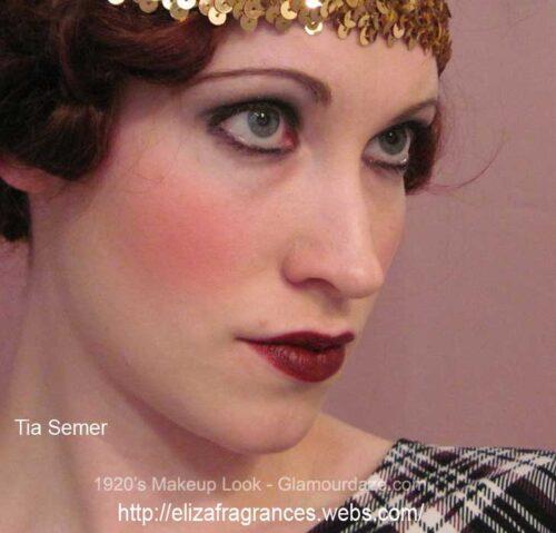 1920's flapper makeup